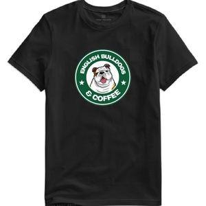 Tops - English Bulldogs & Coffee Tee